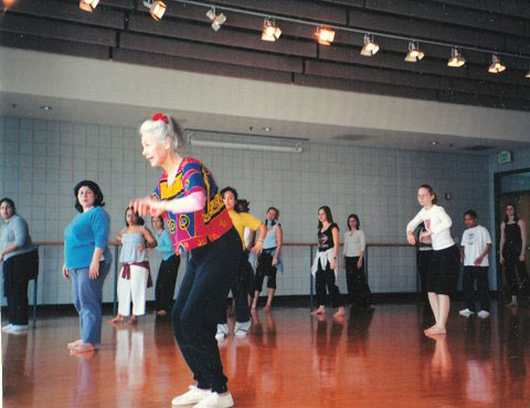 Teaching Wolf Dance at Texas Woman's University